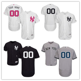 custom Men's women youth Majestic NY Yankees Jersey #00 Any Your name and your number Home White Kids Girls Throwback Baseball Jerseys