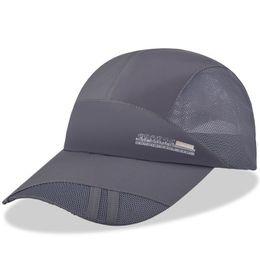 Mesh Hat Quick-Dry Collapsible Sun Hat Outdoor Sunscreen Baseball Cap Men or Women Sport casquette bone aba reta tennis caps hat