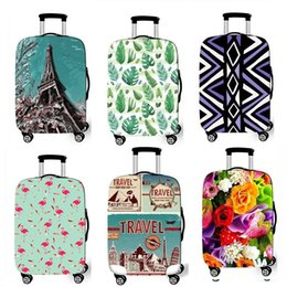 China Factory Sale 2018 Custom Personalised Populor Purple Flower Spandex Waterproof Suitcase Covers Elastic Dustproof Luggage Protector