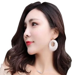 New Women's Hyperbole Dangle Earrings Fashion Jewelry Big Circle Round Plush Style Ethnic Maxi Female Earring free shipping