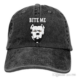 pzx@ Baseball Cap for Men and Women, Bite ME - Pitbull Mens Cotton Adjustable Jeans Cap Hat Multi-color optional