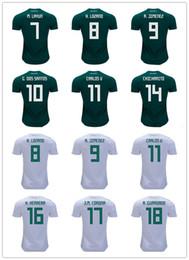 2018 Top Quality Home Men Mexico Soccer Jersey 2018 World Cup Chicharito Lozano Dos Santos Erela Lara Customized Mexico away football unifor