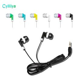 Wholesale 200Pcs lot Disposable Earphones Headphones Low Cost Earbuds for Theatre Museum School Library,Hotel,Hospital Gift