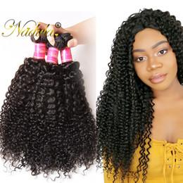 Nadula Peruvian Curly Hair Bundles 4Bundles Virgin Human Hair Extensions Natural Color Human Hair Weave Wefts Wholesale Cheap