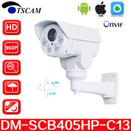 TSCAM new DM-SCB405HP-C13 HD 960P 1.3MP Bullet IP Camera 4X Optical Zoom Mini IR Night Vision PTZ Security camera P2P Free shipping