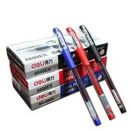 Deli 6600es 33399 Special 12pcs Erasable Pen Blue   Black  Red Magic Writing Pen Office Supplies Student Exam Spare