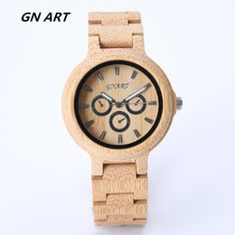 GNART 279H bamboo wathch Halloween gift natural bamboo watch man watches woman watches Fashion watches Casual watch Quartz watch