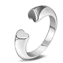 Fashion Fine Jewelry 925 Sterling Silver Simple Style Jewelry Open Rings For Women Creative Design Lady