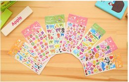 3D Cartoon Stickers Scrapbooking Adhesive Cute Stickers For Kids Students Prize Gift Applique DIY Diary Album Animal Fruit Bubble Decoration