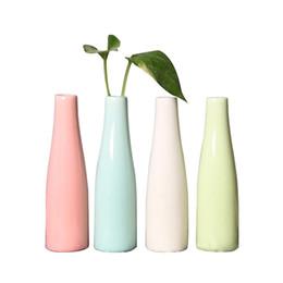 4pcs Modern Home Decor Ceramic Color Vase Art High Vase Wedding Gift Handmade Round Combination Vase Set