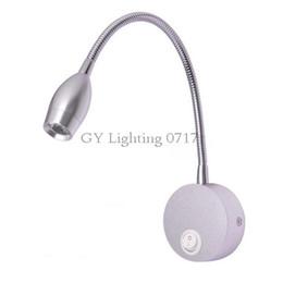 AC110v 120v 220v 240V Flexible Hose LED Wall Lamps with switch Modern Indoor Aluminum led wall light for home 110v 220v LED bedside reading