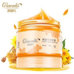 150g Honey & Milk Nourishing Hand SkinCream Hand Mask Care Moisturizing Whitening Skin Care Exfoliating Calluses Film