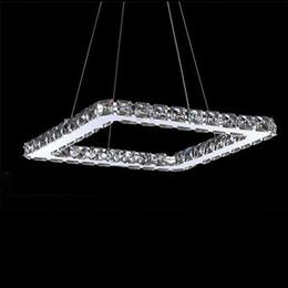 Square Crystal LED pendant Light Fixture Crystal Lighting led chandelier lamp for Living Dinning Room, Lustres De Cristal Sala Teto Lustres