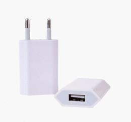 5V 1000ma 1A Universal EU US Plug Slim USB Wall Charger AC Power Adapter for iphone 4 4S 5 5G ipad mini ipad2 USB Chargers cell phone MQ500