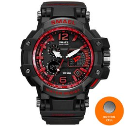 Men Watches White Sport Watch LED Digital 50M Waterproof Casual Watch S Shock Male Clock 1509 relogios masculino Watch Man