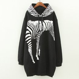 2018 new style European and American fat sister plus size women's long sweater plus cashmere thickening zebra sweater