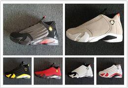 14 Last Shot DESERT SAND black toe men basketball Shoes 14s FUCHSIA BLAST Sports Footwear outdoor athletics sneakers Free shippment with box