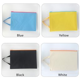 Zipper Bag A4 Zipper Pouch Storage Bags Document Folder Larger Water-resistant Storage Bags Travel Document Organizers, Colour Random