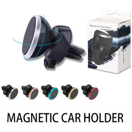 6 Magnet beads Metal Air Vent Magnetic Mobile Phone Holder For iPhone Samsung Magnet Car Phone Holder Aluminum Silicone Mount Holder Stand