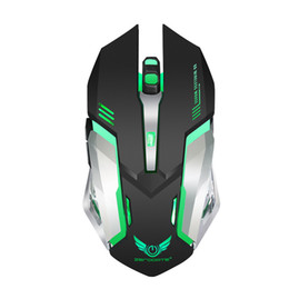 Hot 2018 Professional Wireless Mouse Six Keys 2.4GHz Gaming Mouse Ergonomic Design 2400DPI USB Mouse Computer Free Sample Free Shipping