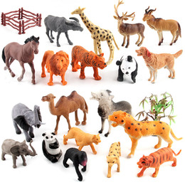 Panda Minifig Action figures Building Blocks Bricks Dog giraffe Lion Horse Elephant tiger Cattle sheep leopard Wolf dog Camel Toy OPP BAG