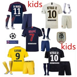 Thailand Maillot de foot MBAPPE NEYMARs JR soccer jerseys 2018 Kids jersey 17 18 football shirt KIT paris saint germain survetement psg