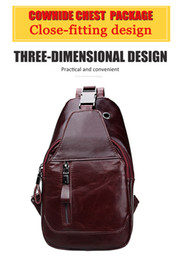 The global hot style men's slanted cross - baled boobs cross - bag boobs bag for men's bags and leather boobs for 2018
