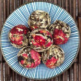 Samples 100g White Tea Flower Ball Moonlight Pearl Mixed flavor Yunnan Puer tea Pearl Premium Ball Tea