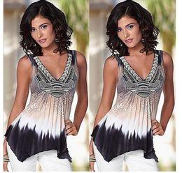 PT131 summer tops t shirt women blouse sexy off shoulder v-neck tie dye