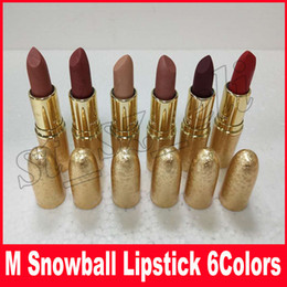 M Brand Snowball Limited Edition Holiday Matte Lipstick Elle Belle Rouge En Snow Shimmer & Spice Glistening Holiday Crush Warm Ice 6 colors