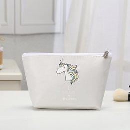 Cosmetic Bags Unicorn Printed Necessaries for Women Makeup Heart Polyester Travelling Organizer trousse maquillage femme