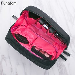 New Arrivel Flamingo Cosmetic Bag 2 layers Women Necessaire Make Up Bag Travel Waterproof Portable Makeup Bag Toiletry Kits