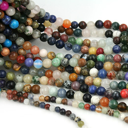 8mm Nature Garment Stone Beads Spacer Loose Beads Charms For Jewelry Making DIY Bracelet Necklace 15inches 4 6 8mm