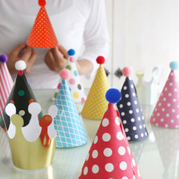 free shipping 2018 new Party Celebration Korean Cute hot Hats Birthday Hat Festive Party Photograph Items Birthday Party Decorations Kids