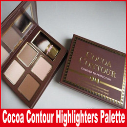 Faced Cocoa Contour Chiseled To Perfection Highlighters Face Contouring And Highlighting Kit 4 Color with brush