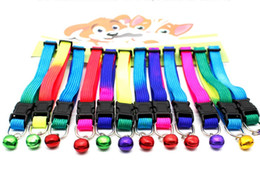 2018 Chien Perros Dogs 1.5x34cm Brand New Adjustable Pet Collars Colourful Bell Collar Fashionable Dog for Nylon 1cm Extension 24-34