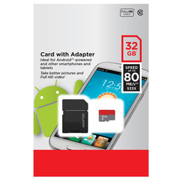 64GB 32GB 16GB 128GB 256GB White 80MB s Android Robot Class 10 C10 Flash TF Memory Card Retail Package with Free SD Adapter