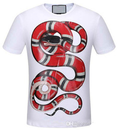 Best Sell White Men's T-shirt 3D Snake Print Polo shirts Summer Short Sleeve Polos Tops M~3XL Big Size Cotton Tees Free Shipping