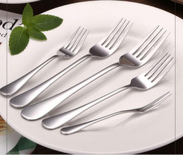 Factory Wholesale Stainless Steel Forks For Western food Fruit Sweet Cake Kitchen Dining Bar Use( 5 size for choose)