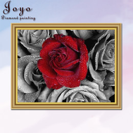 Joyo,DIY resin diamond picture cross stitch, red and black series affectionate rose, home decor, room decoration, perfect design, beautiful