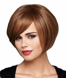 10 inches Women's Fashion Hair Replacement Wigs Short BOBO Hairpiece Brown Wigs synthetic hair Wigs for Women