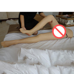 NEW Top quality lifelike silicone legs real silicone feet sex toy metal skeleton sex doll legs vagina real pussy sex products