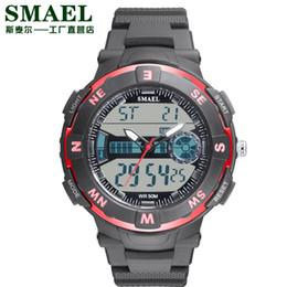 Fantástica pantalla doble al aire libre 50 m impermeable reloj de regalo adolescente Popular reloj multifunción LED al aire libre reloj 1361