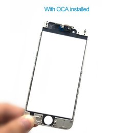 AAA+Front Touch Screen Panel Outer Glass Lens with Cold Press Middle Frame with OCA installed for iPhone 6 6s 6 plus 6s plus