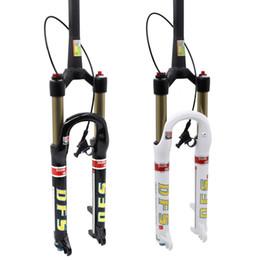 "DFS air fork DFS-RLC(DUAL AIR)-TP-RCE 26er 27.5er suspension fork bicycle MTB REMOTE lock out damping adjust 100mm travel 1-1 8""TP1-1 2"""