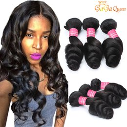 Wholesale 8A Malaysian Loose Wave Hair Unprocessed Human Hair Weave Virgin Malaysian Loose Hair Extensions Dyeable Natural Color