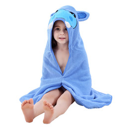 MICHLEY Children's bath robes 2018 Summer Baby Blanket Towel Set New Arrival Animal Robes 6 Colors Hooded Bathrobes