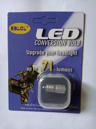 EBLCL E10 screw base LED flashlight torch bulb Head light lamp 71lumen 9V 12V 18V White light
