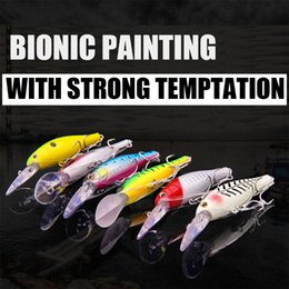 Fishing Lures Gears for Lure Bionic Baits Fishing Tackles 3D Minnow Fishing Lure Bass Plastic Baits 6# Hook (20 of PACK)Free Shipping