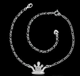 Foot Jewelry Silver 925 Hamsa Anklets for Girlfriend .925 Silver Women Sexy Body Jewelry Leg Bracelet 925 Sterling Silver Korean Anklet